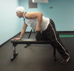 Dumbbell Bent-Over Rows Exercise 2