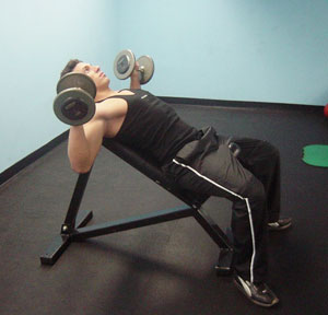 Incline Dumbbell Press Exercise 1
