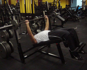 Declined Bench Press Exercise 1