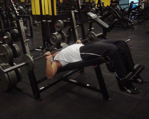 Declined Bench Press Exercise 2