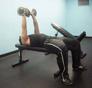 Dumbbell Bench Press Exercise 2